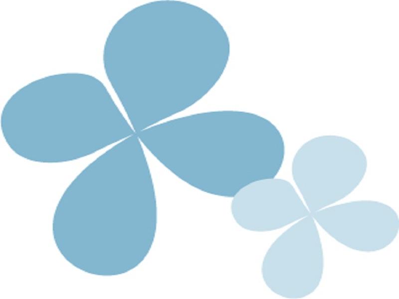 Blå blomsterny